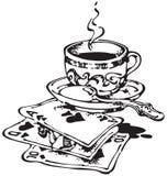 2个看板卡咖啡杯使用 图库摄影