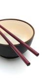 2个碗筷子 免版税库存图片