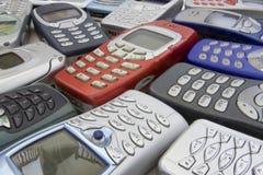 2个移动老电话 免版税库存图片