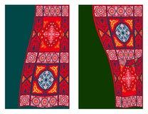 2个窗帘埃及织品样式帐篷 库存图片