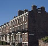 2个等级房子列出的利物浦英国 免版税库存照片