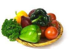 2个篮子蔬菜 免版税库存图片