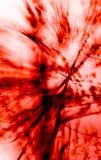 2个红色仓促结构树 库存照片
