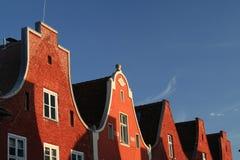 2个红色屋顶 库存图片