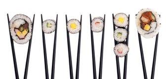 2个组合寿司 免版税库存照片