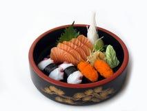2个组合生鱼片寿司 库存照片