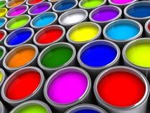 2个罐头油漆 库存例证