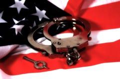 2个美国人正义 库存照片