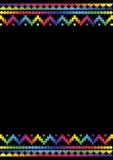 2个背景五颜六色的印加人样式 免版税图库摄影