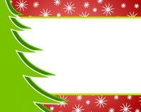 2个背景圣诞树 库存图片
