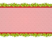 2个背景圣诞节土气霍莉的叶子 免版税库存照片