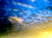 2个背景天空 免版税库存图片