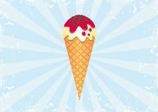 2个背景奶油色冰旭日形首饰 免版税库存图片