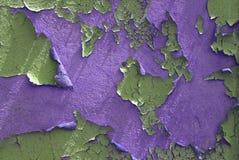 2个背景油漆peelilng紫色 免版税库存照片