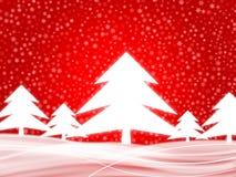 2个背景红色冬天 免版税库存照片