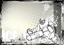 2个背景脏的曲棍球冰 免版税库存照片