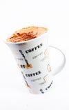 2个背景capuccino杯子白色 免版税库存图片