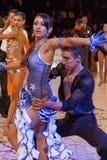 2个舞厅冠军舞蹈国民 图库摄影