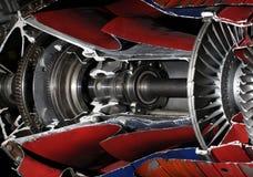 2个航空器涡轮 免版税库存图片