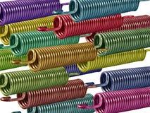 2个色的弹簧 免版税库存照片