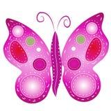 2个艺术蝴蝶夹子查出 库存例证