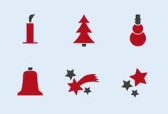 2个节假日图标集合冬天 免版税库存图片