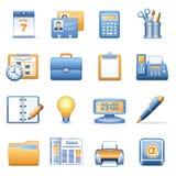 2个蓝色图标橙色系列万维网 免版税库存照片