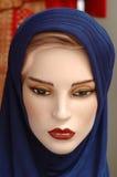 2个蓝色时装模特系列 库存图片