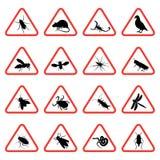 2个虫啮齿目动物符号警告 库存照片