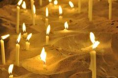 2个蜡烛教会 免版税库存图片
