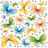 2个蝴蝶颜色纹理 库存例证