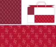 2个袋子一起樱桃模式 免版税图库摄影