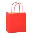 2个袋子红色购物 免版税图库摄影