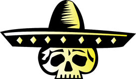 2个设计墨西哥头骨 免版税图库摄影