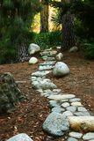 2个路径石头 免版税库存照片