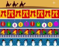 2个边界圣诞节集 免版税库存图片
