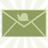 2个邮件蜗牛 免版税库存图片