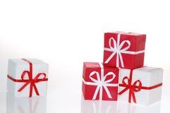 2个配件箱圣诞节 免版税库存图片