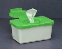 2个配件箱擦净剂绿色 图库摄影