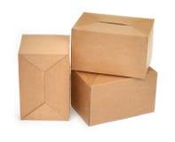 2个配件箱纸板三 免版税图库摄影