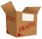2个配件箱纸板 库存照片