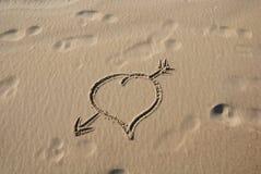 2个重点沙子 库存照片