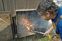 2个锅炉木头 库存照片