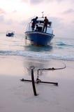 2个锚点船 免版税库存图片