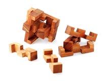 2个难题木头 免版税库存照片