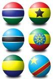 2个非洲球 图库摄影