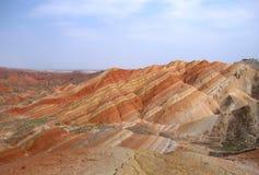 2个颜色山 库存图片