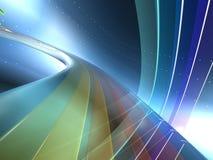 2个颜色彩虹 库存图片