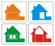 2个颜色房子徽标 库存照片