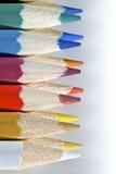 2个颜色pallete铅笔 免版税库存照片